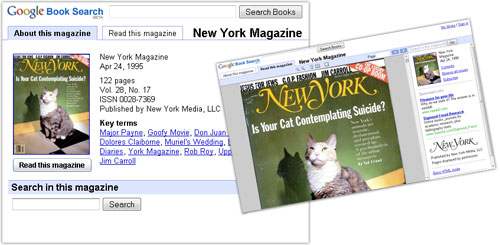 Google Book Search : Magazines