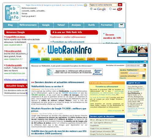 WebRankInfo : Versions 3 et 4