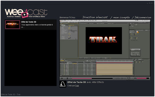 Weecast : Tutoriel player