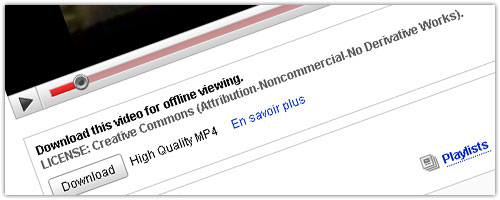 YouTube : MP4 - Creative Commons