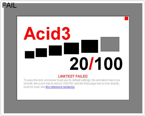 Acid Test 3 & Internet Explorer 8