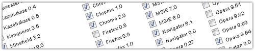 BrowserShot : Navigateurs