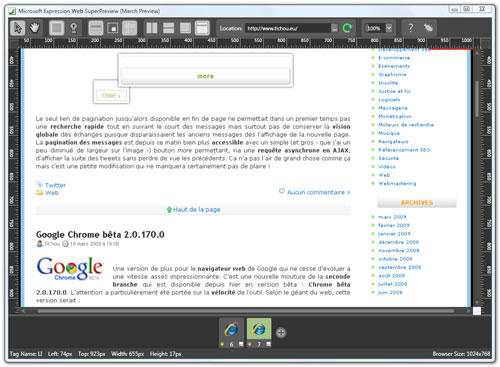 Expression Web SuperPreview