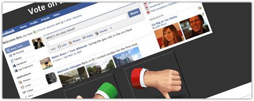 Facebook : Vote pour les nouveautés