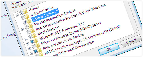 Internet Explorer 8 : Désinstaller