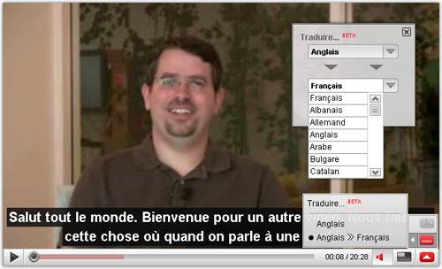 YouTube : Traduction des sous-titres
