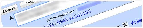 Gmail : Suggestion de destinataires