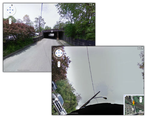 Google Car : Accident sous un pont