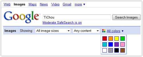Google Images : Couleurs