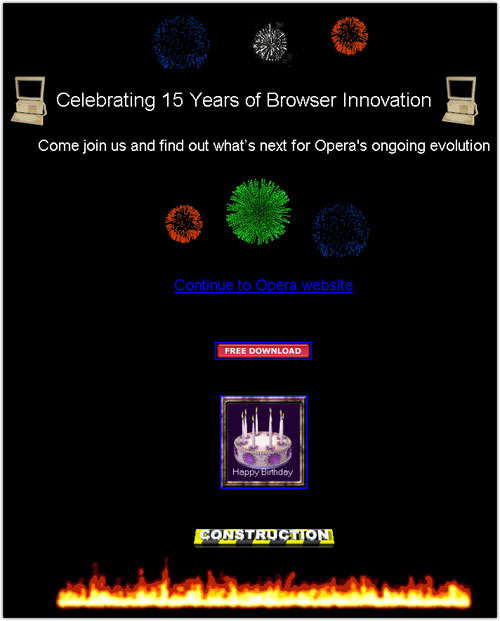 Opera Software : 15 ans