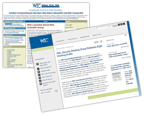 W3C : Nouveau design