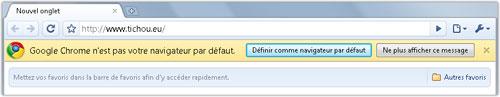 Google Chrome : Navigateur par défaut