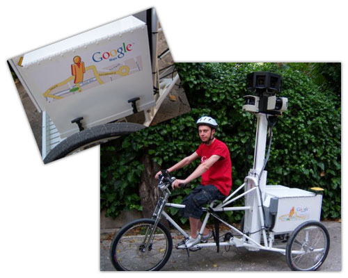 Google Street View : Bicycle (Tricycles)