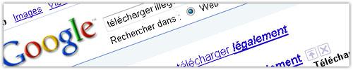 Google : Télécharger (il)légalement
