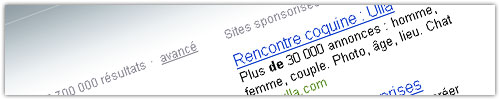 Bing : Sites sponsorisés