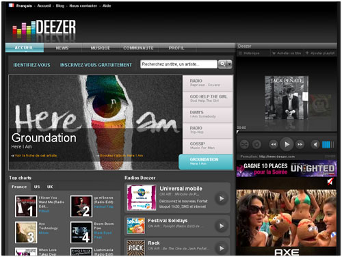 Deezer : Version 2