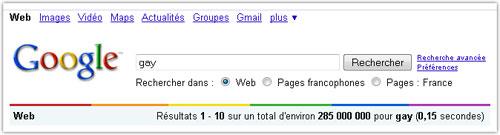 Google : Gay