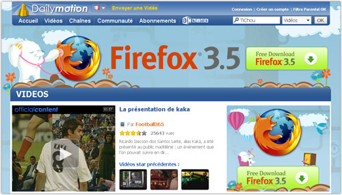 Dailymotion & Firefox 3.5