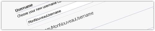 Facebook : Username