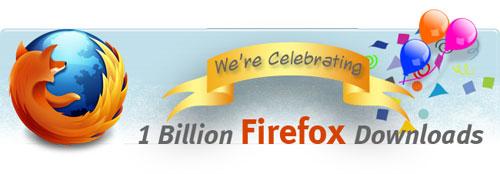 Firefox : 1 milliard de téléchargements