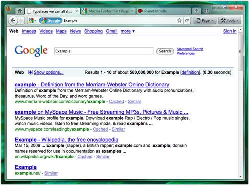 Firefox 4.0 : Onglets haut