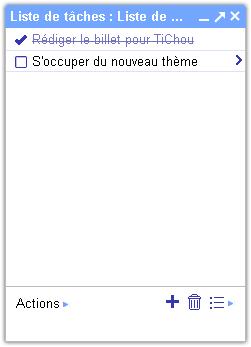 Gmail : Liste de tâches