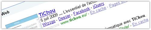 Google sitelinks : TiChou