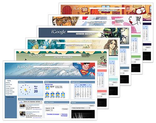 iGoogle : Thèmes de bandes dessinées