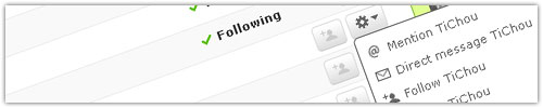 Twitter : Options Following & Followers