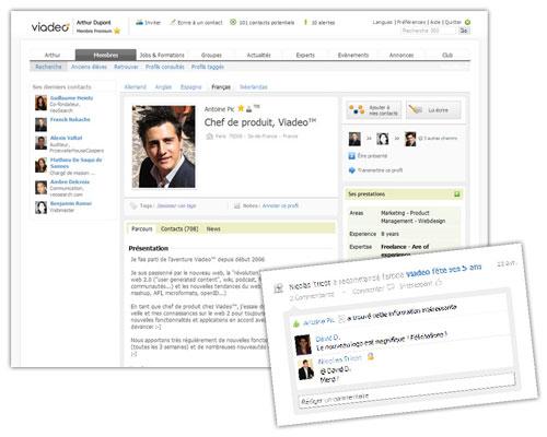 Viadeo : Profile et commentaire