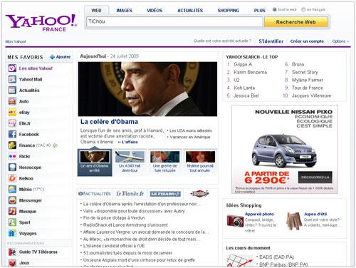 Yahoo France : Accueil
