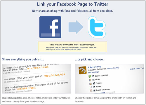 Facebook & Twitter : Link page