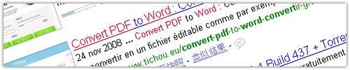 Google : Coloration des mots clés dans les SERPS
