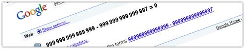 Google : Erreur de soustraction