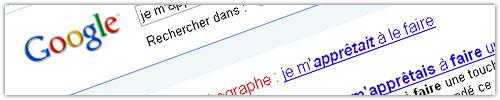 Google : Proposition de faute de francais