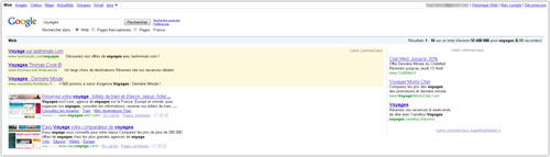 Google : Anciennes pages de résultats