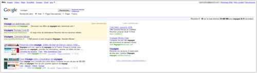 Google : Nouvelles pages de résultats