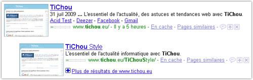 Google : Plus de résultats