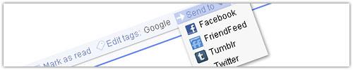 Google Reader : Send to