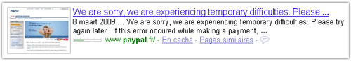PayPal : Temporary difficulties