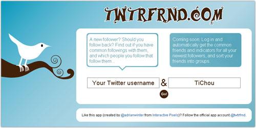 Twtrfrnd : Trouver les amis communs à deux comptes Twitter