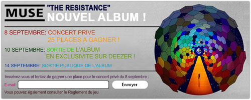 Deezer : Muse - The Resistance