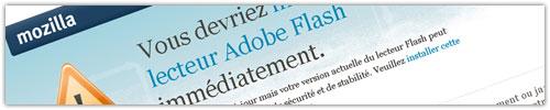 Firefox : Player Flash