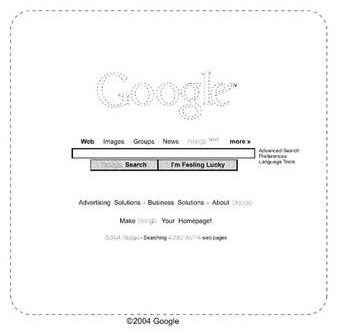Google : Brevet sur sa page d'accueil