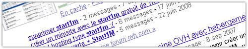 Google : Cluster de topics de forums