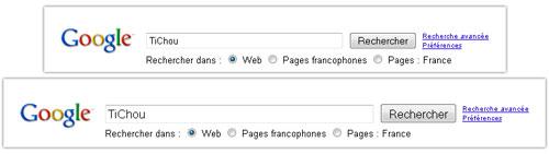 Google : Taille du champ de recherche