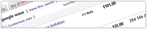 eBay : Invitations Google Wave