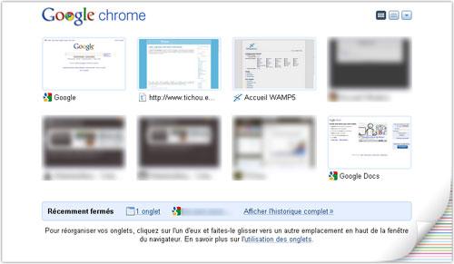 Google Chrome : Thèmes d'artistes