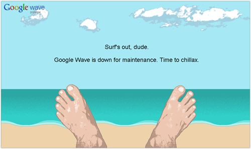Google Wave is down for maintenance