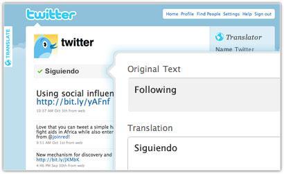 Twitter : Translator